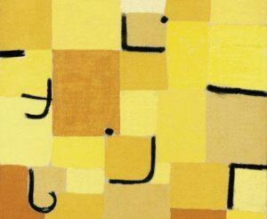 Segno in giallo, 1937, pastello su cotone su tela, Fondazione Beyeler