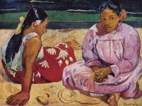 Paul_Gauguin_Donne_di_Tahiti_sulla_spiaggia